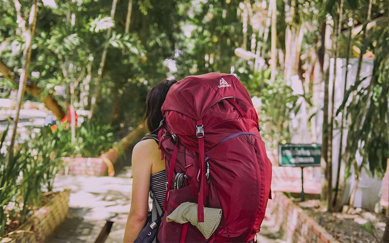 Flugreise mit dem Backpacker Rucksack