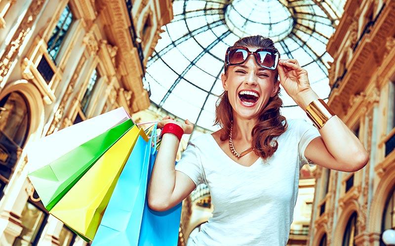Oarken und Shoppen in Mailand