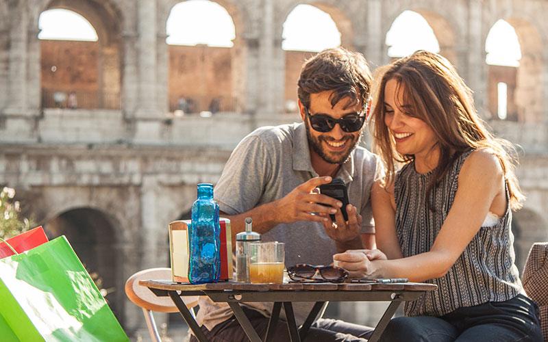 Shopping und Parken in Rom