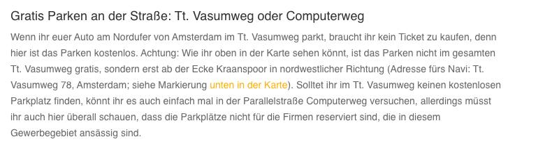 Textbeitrag - Gratis Parken Flughafen Amsterdam - 1