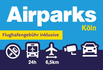Airparks Parkplatz Köln - Parken am Flughafen Köln Bonn