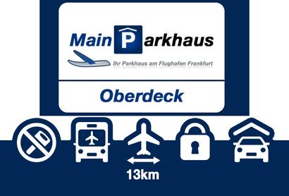 Mainparkhaus Parkeergarage Frankfurt Bovendeck - Parkeren bij Luchthaven Frankfurt