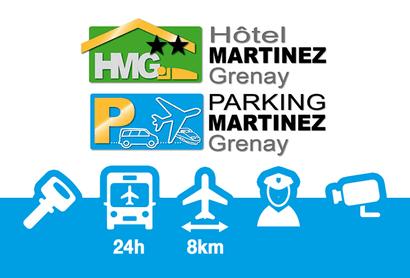 Hotel Parkplatz Martinez Grenay Lyon - Parken am Flughafen Lyon