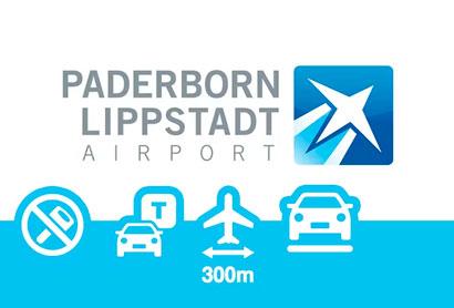 Flughafen-Parkplatz P6 Paderborn - Parken am Flughafen Paderborn / Lippstadt
